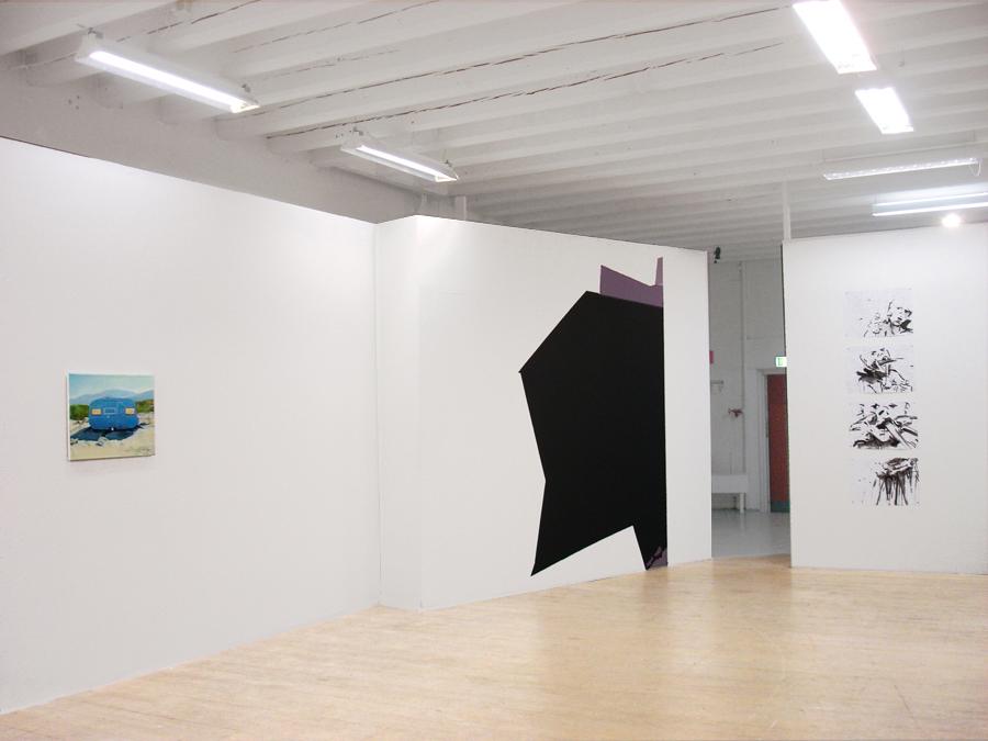 CAVE, Acrylfarbe, Wandbild, 'light strike', montanaberlin, studio44, Stockholm, 2009