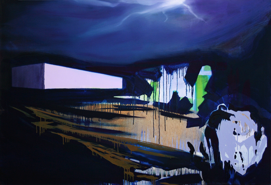 Das Gewitter/ The Tempest, 90 x 130 cm, Öl/N, 2011
