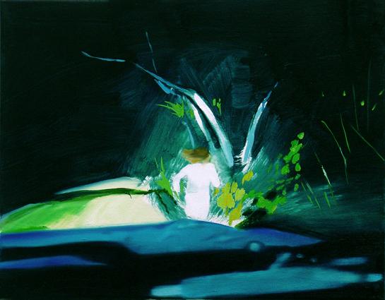 Haunted by light, 40 x 50 cm, Öl/N, 2008 (v)