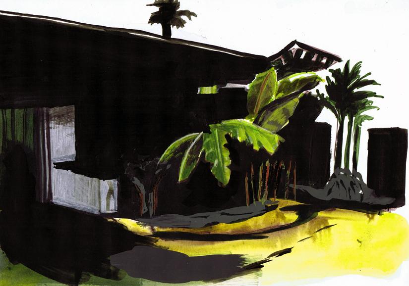o.t., gouache+acryl/papier, 20 x 29 cm, 2010 (v)