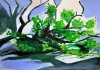 landscape (5), acryl/gouache/kohle, 42 x 59 cm, 2015 (v)