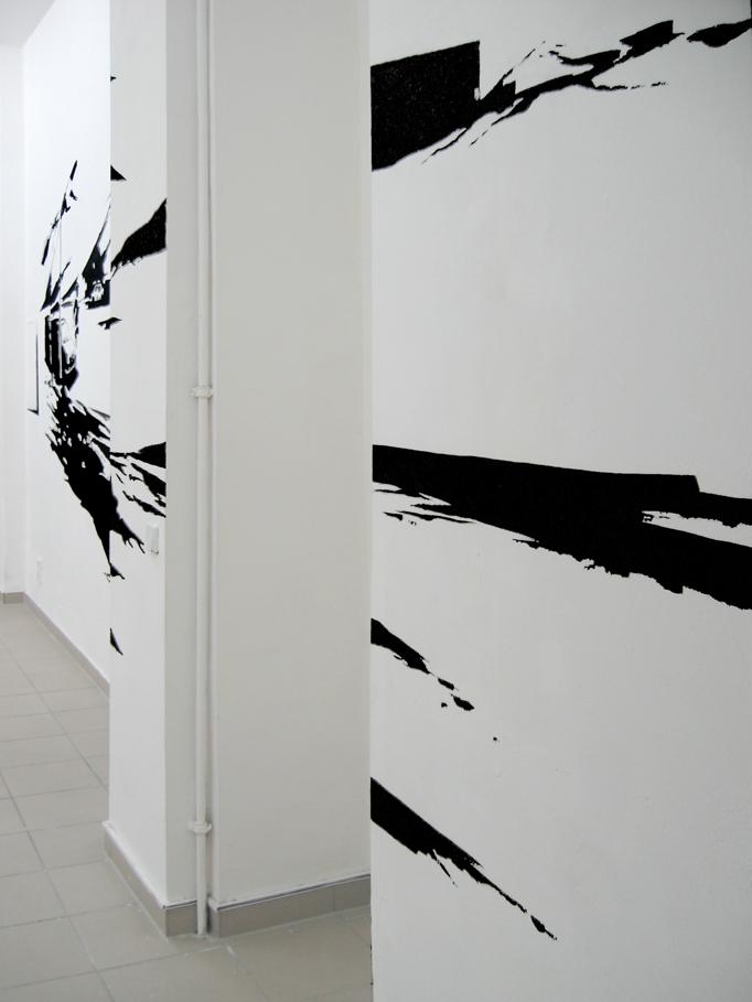 MOONSCAPE, Acrylfarbe, Ausstellung 'modell und wirklichkeit: die unerbittliche Pünktlichkeit des Zufalls',montanaberlin, Berlin, 2007