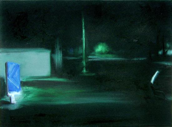 Nacht (Fading) (5), 30 x 40 cm, Öl/N, 2006