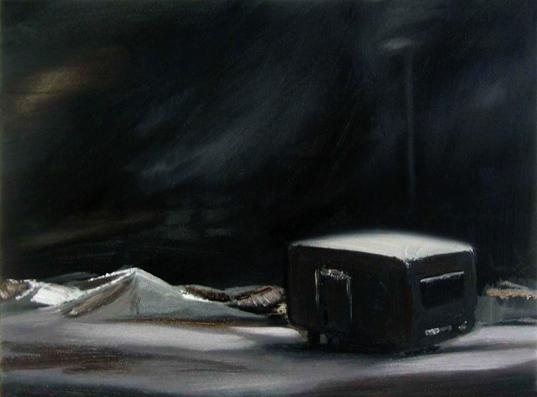 Nacht 6, 30 x 40 cm, Öl/N, 2006 (v)
