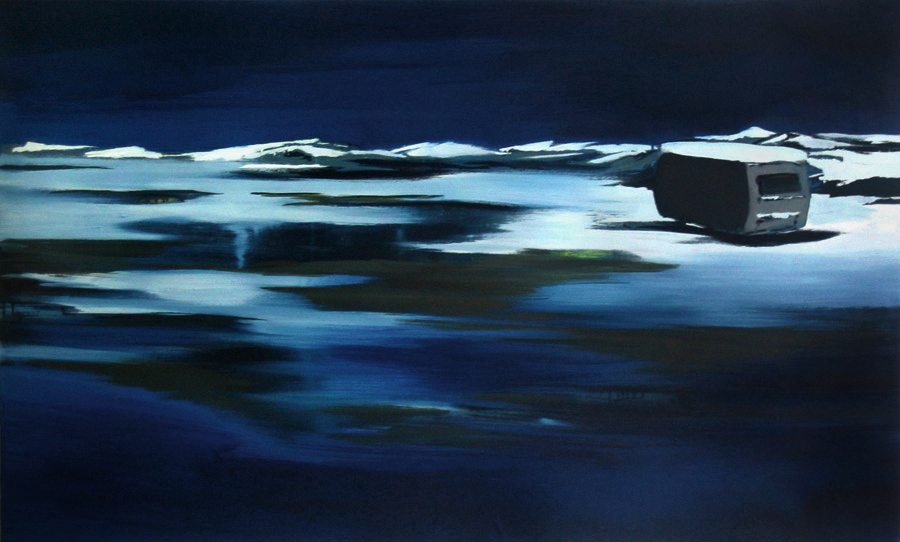 Nacht Polar (3), 80 x 140 cm, Öl/N, 2006 (v)