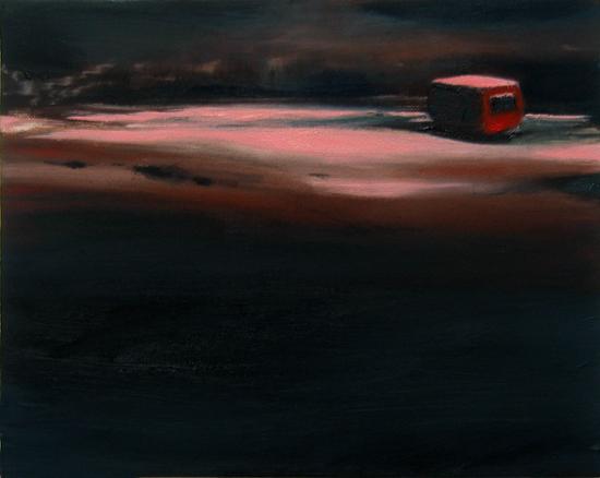 Nachtrand, 24 x 30 cm, Öl/N, 2006 (v)