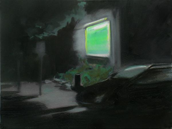 Nacht (Fading) (4), 30 x 40 cm, Öl/N, 2006 (v)