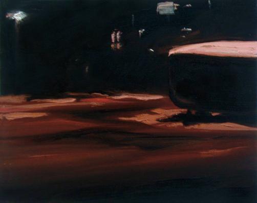 Nachtstadt, 24 x 30 cm, Öl/N, 2006 (v)