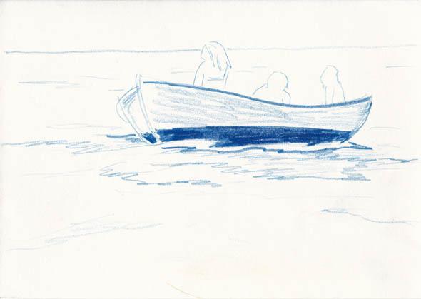 o.t., 14,8 x 21 cm, farbstift/papier, 2015