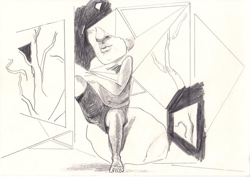 about (2), 20,8 x 29,5 cm, bleistift/papier, 2017