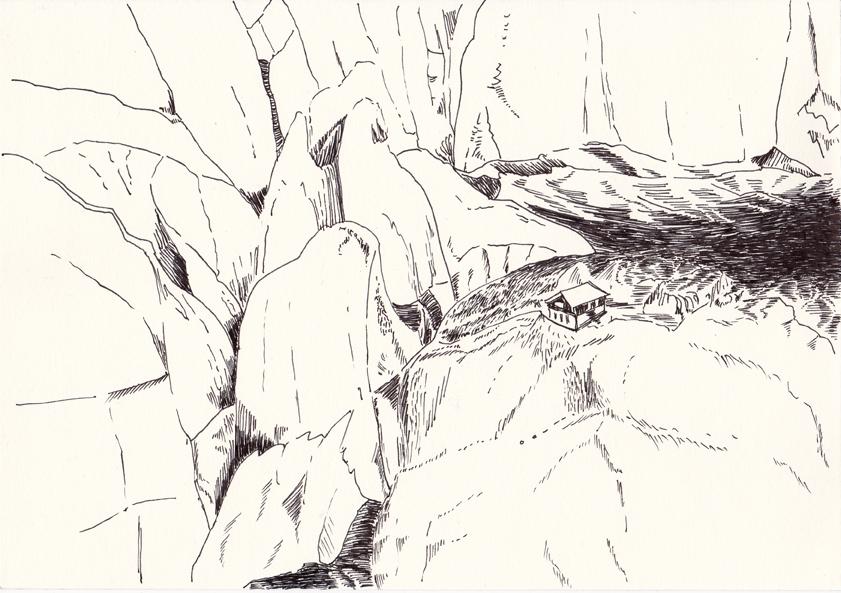o.t., 21 x 29 cm, tusche/papier, 2016 (v)
