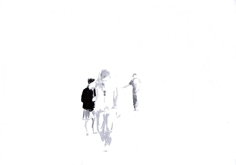 o.t., 21 x 29 cm, paint marker/papier, 2012