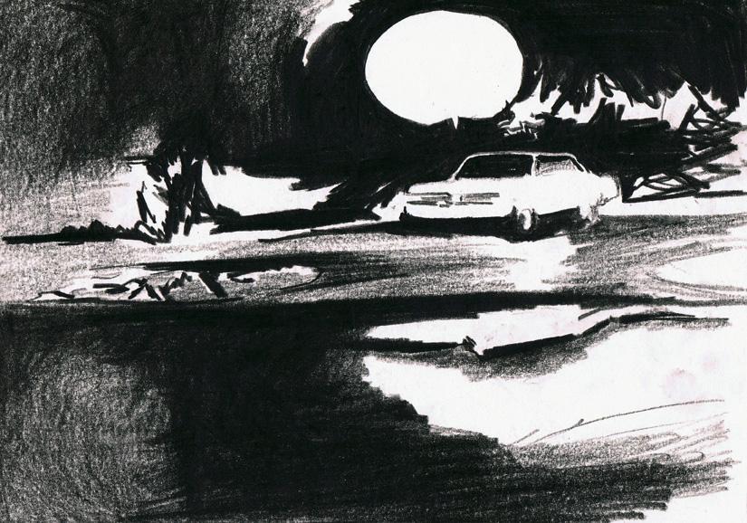 o.t., 21 x 29 cm, kohlekreide/papier, 2012