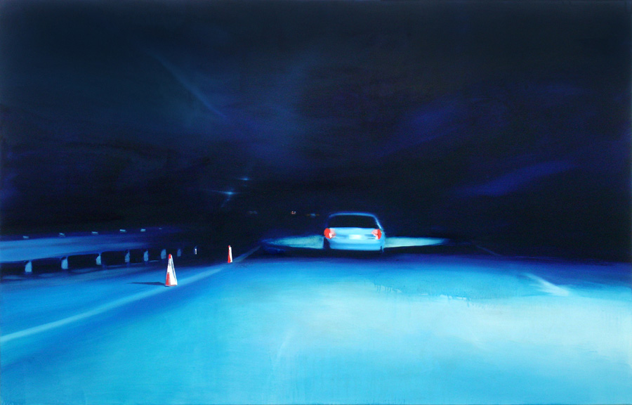 The Dark Way (2), 140 x 220 cm, Öl/Nessel, 2008 (v)