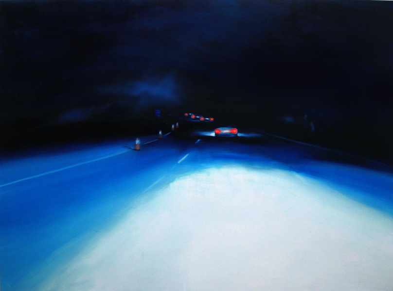 The Dark Way, 200 x 240 cm, Öl/Nessel, 2008 (v)