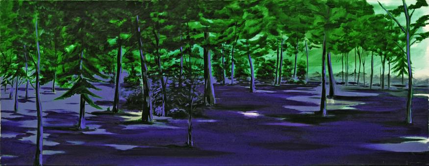 Der Zustand (Wald) (4), 70 x 180 cm, Öl/N, 2006
