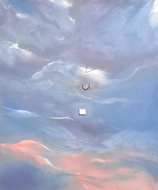sacred geometry, 120 x 100 cm, Acryl/Öl/Kohle/N, 2018