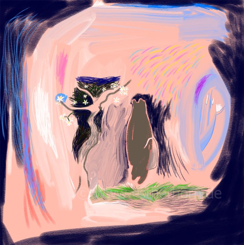 spring has nights too, printversion various dimensions, digital drawing, 2021