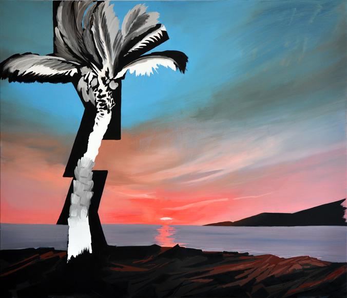 black palm, 120 x 140 cm, Ol/N, 2014