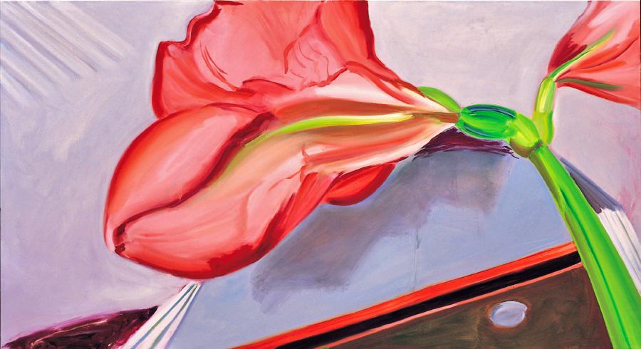 Amaryllis 3, 130 x 240 cm, Öl/N, 2000 (v)