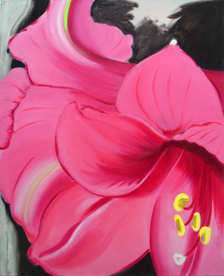 Amaryllis 4, 160 x 130 cm, Öl/N, 2004 (v)