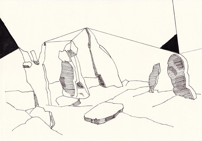 ancestral talk3, 20,8 x 29,5 cm, tusche/papier, 2016