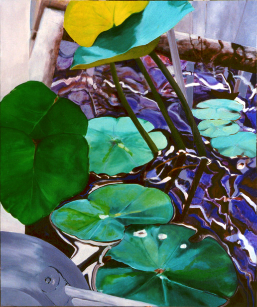 Botanischer Garten 1, 240 x 200 cm, Öl/N, 1996