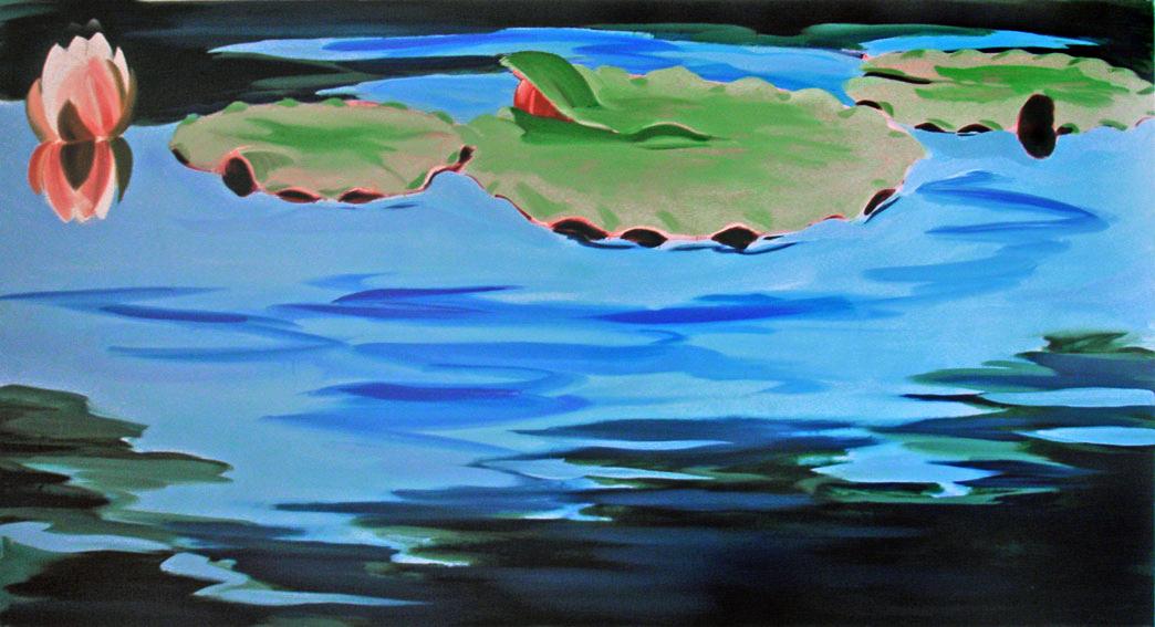 Botanischer Garten 6, 130 x 240 cm, Öl/N, 2006 (v)