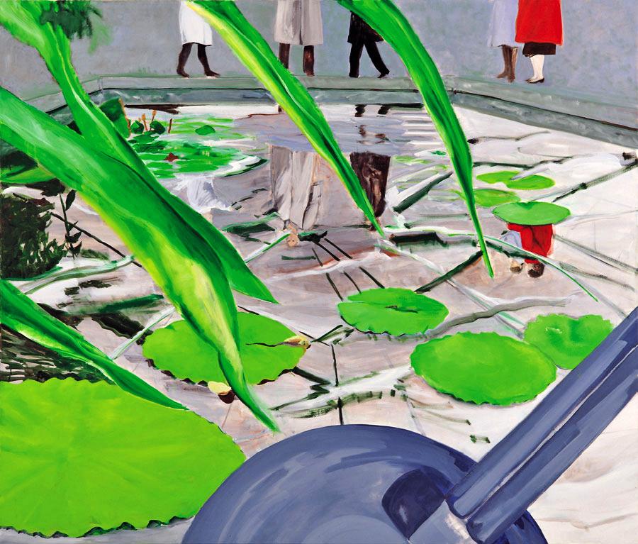 Botanischer Garten 2, 170 x 200 cm, Öl/N, 1996 (v)