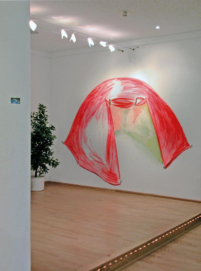 DRAUSSEN, Pastellkreide, Tagungsraum Kolpingbildungswerk, Coesfeld, 2003