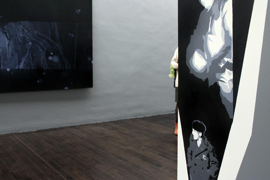CAVE 3 #identity, Acrylfarbe, Wandbild, 'weit draußen und tief drinnen' - Bilder der Nacht, Städtische Galerie Fürth, 2013