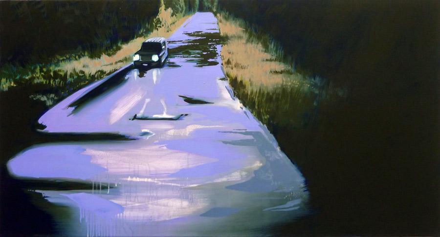 Floating Night, 75 x 140 cm, ÖL/N, 2010