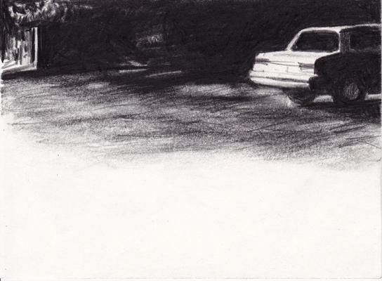 halfnight, 15 x 20,5 cm, bleistift/papier, 2012 (v)