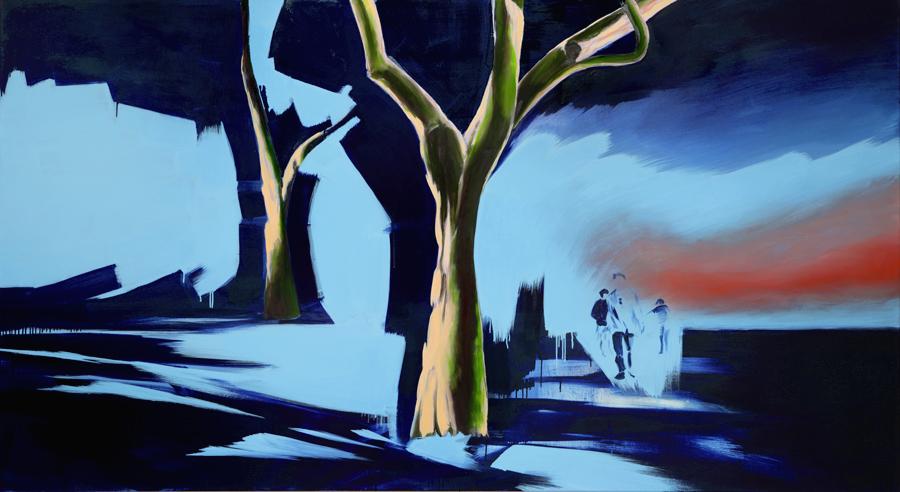 Let´s call it nature, 130 x 240 cm Öl/N, 2013