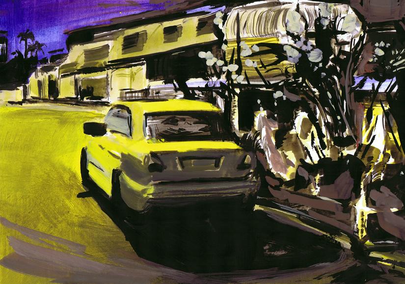 o.t., gouache+acryl/papier, 20 x 29 cm, 2011 (v)