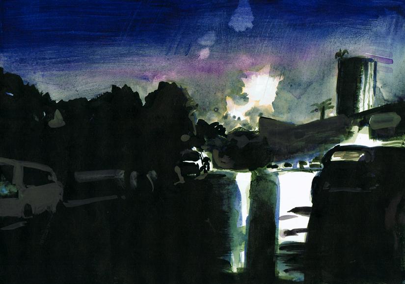 o.t., gouache+acryl/papier, 20 x 29 cm, 2010