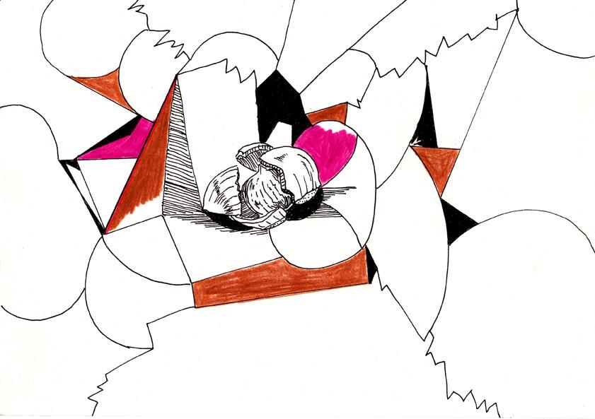 knax (kleine topografie eines gefühls), 21 x 29 cm, tusche/farbstift/papier, 2016