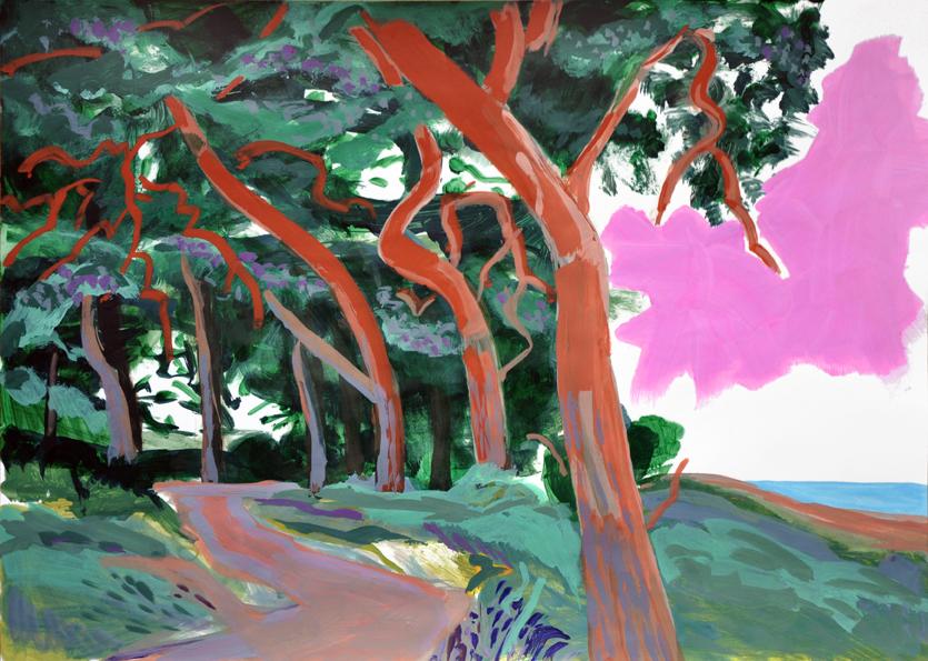 landscape (1), acryl/gouache, 42 x 59 cm, 2015 (v)