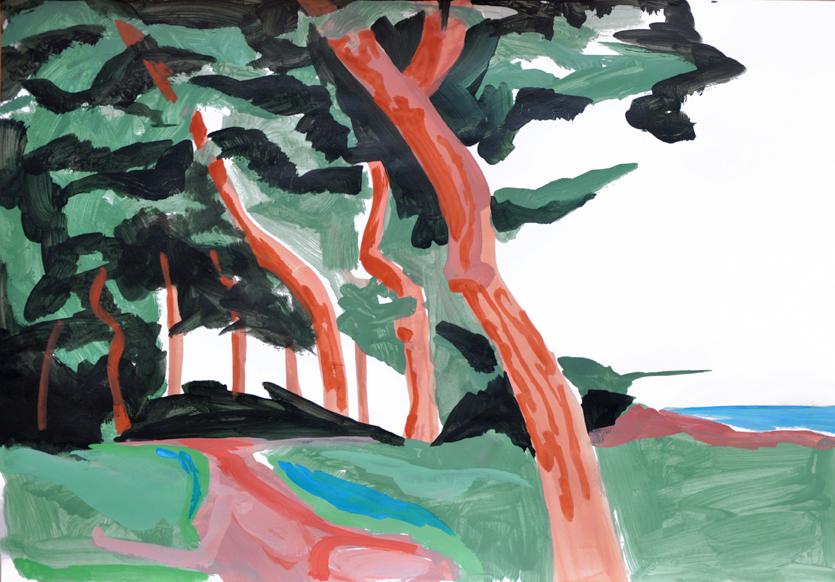 landscape (2), acryl/gouache, 42 x 59 cm, 2015