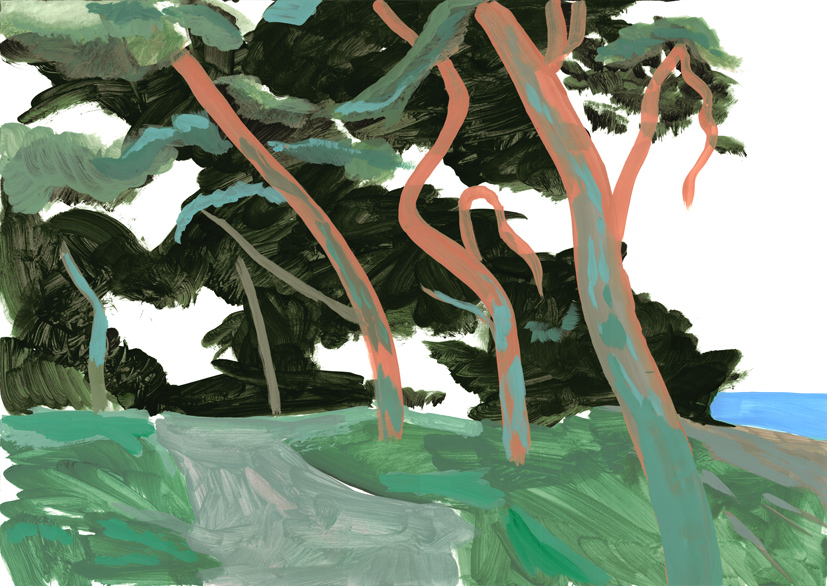 landscape (3), acryl/gouache, 42 x 59 cm, 2015 (v)