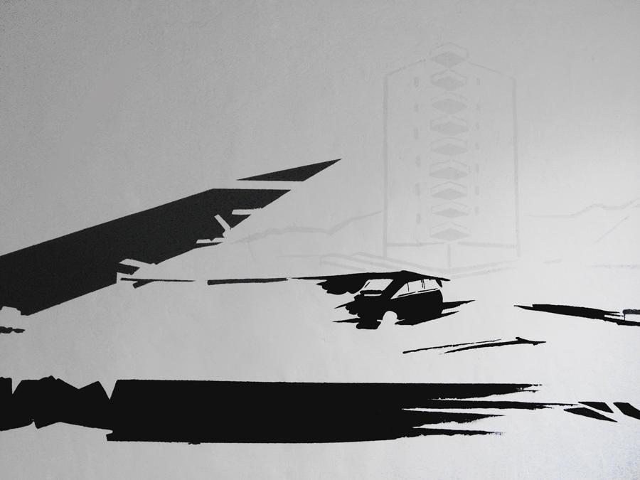 MINDCRASH (Detail), Acrylfarbe, montanaberlin bei ARTRMX, Vol I, Köln, 2008