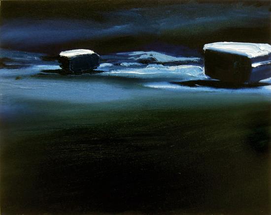 Nacht Polar (4), 24 x 30 cm, Öl/N 2006 (v)