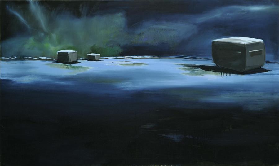 Nacht Polar, 110 x 160 cm, Öl/N, 2006 (v)