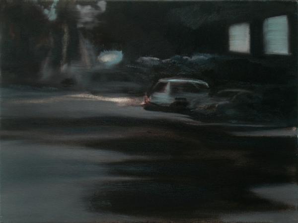 Nacht (Fading) (2), 30 x 40 cm, Öl/N, 2006