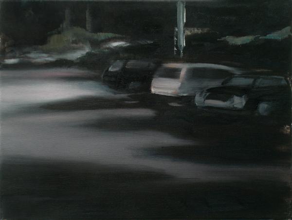 Nacht (Fading), 30 x 40 cm, Öl/N, 2006 (v)