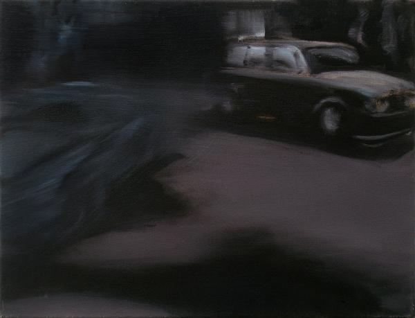 Nacht (Fading) (3), 30 x 40 cm, Öl/N, 2006
