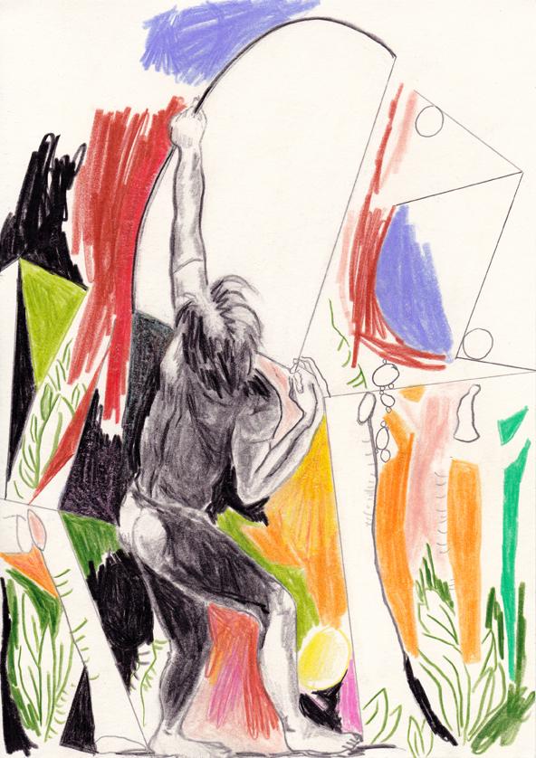 the target, 29,5 x 20,5 cm, bleistift/farbstift/papier, 2017