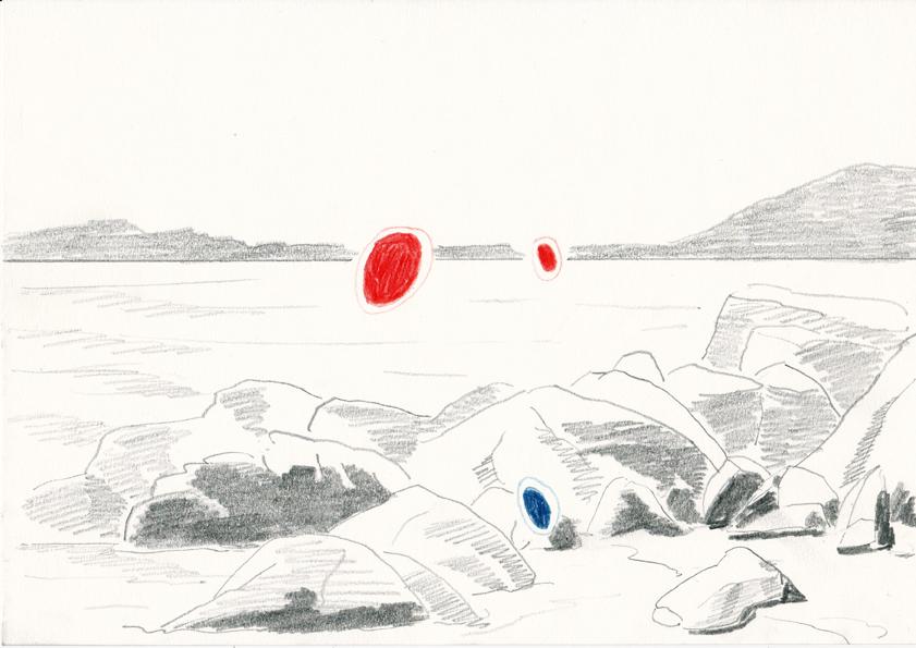 o.t., 20,8 x 29,5 cm, bleistift/farbstift/papier, 2014 (v)