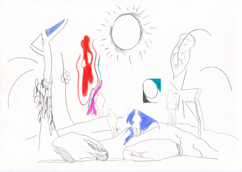 neu, 20,8 x 29,5 cm, bleistift/farbstift/papier, 2016
