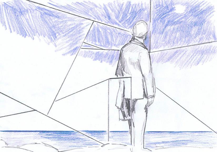 o.t., 21 x 29 cm, farbsitft+bleistift/papier, 2012